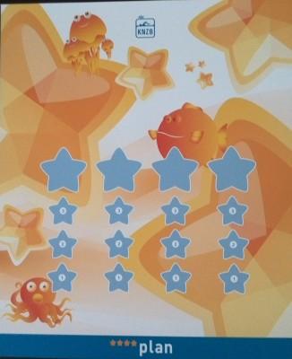 Oranje poster voor 1e jaar Sterrenplan